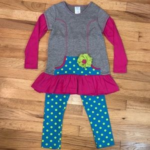 Peaches and Cream two piece outfit girls size 6